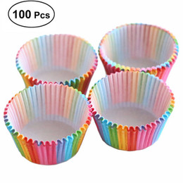 kid friendly cupcakes Australia - 100PCS Colorful Paper Box Cake Cupcake Liner Baking Muffin Case Cup Wedding Birthday Decoration For Kid Tableware Party Supplies