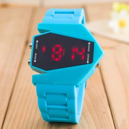 silicone kids watch bracelet Australia - Men's Sports LED Digital Watches colorful Silicone Bracelet for school boy Watch Wristwatch Digital Electronic for Child kids