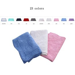 BaBy swaddle Blanket online shopping - 23 Colors INS Baby Blanket Toddler Pure Cotton Embroidered Blanket Infant Ruffle Quilt Swaddling Breathable Air Conditioning Blanket MMA1598