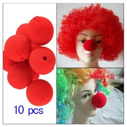 ball clown Australia - Magic Party Red Clown Nose Sponge Ball for Halloween Masquerade Kids Costume Ball Party Supplies Clowns Play Props 10pcs lot