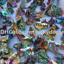 $enCountryForm.capitalKeyWord NZ - 10Pcs Exquisite Freeform Rainbow Bismuth Geode Metal Ingot Crystal Ore Display Mineral Specimen Promotes Deep Meditation, Focus & Clarity