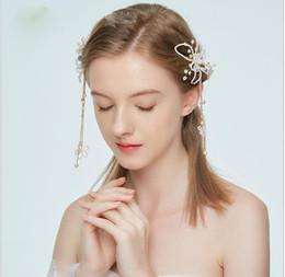 $enCountryForm.capitalKeyWord Australia - Bride's hand-made fringe Clip Wedding headdress cheongsam dress accessories hairpin hair accessories
