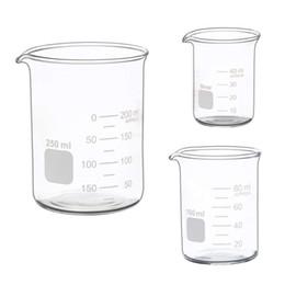 Bicchiere basso di vetro di misurazione di vendita calda Set 50ml Bicchiere graduato di vetro da 250 ml Set da 250 ml in Offerta