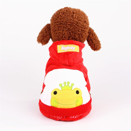 Foot wears online shopping - Coral Velvet Four Feet Doggy Clothes Panda Add Villus Pets Apparel Hooded Cap Dog Sweater Autumn And Winter Wear Poodle Lovely mdb1