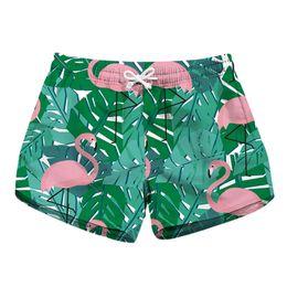 3d5907a398 Ladies Swim Shorts UK - Women Short Beach Shorts Flamingo 3D Full Print  Girl Casual Swimming