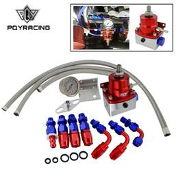 Venta al por mayor de PQY - Regulador de presión de combustible ajustable universal Aceite de 160 psi AN 6 Acople de extremo CON / SIN PQY LOGO + PEGATINA PQY7843R