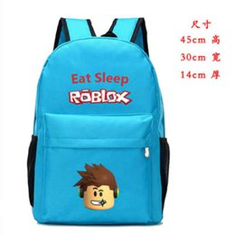 $enCountryForm.capitalKeyWord Australia - 45*30*14cm 6 colors Roblox Backpack Laptop Bags Students Gift Bag Boys Girls school Stationery Action Figure Toys for Kids