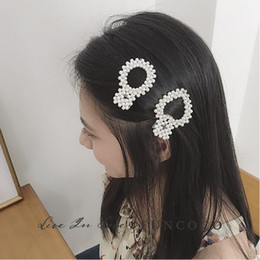 $enCountryForm.capitalKeyWord Australia - Baroque Style Exquisite pearl Peach Square Hairpin Bobby pin Fringe Mix One Clip Korea Hair Decorate Hairpin Adult Woman