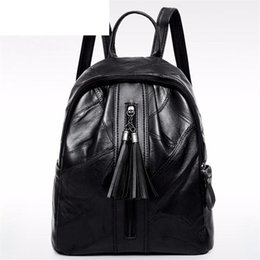 $enCountryForm.capitalKeyWord Australia - good quality Casual Soft Leather Backpack For Teenage Girls High Quality School Backpack Female Leather Travel Rucksack With Tassel