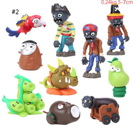 zombie toy dolls 2020 - Plants VS Zombies Version 1 2 Action Figures PVC Zombies PVC Cartoon Anime Doll 10pcs set Collection Toy For Children M0