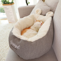 $enCountryForm.capitalKeyWord Australia - Pet Dog Cute Winter Keeping Warm House Soft Material Sleeping Bed For Small Dogs Cats DB753
