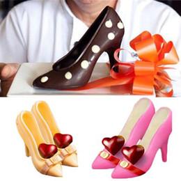 c0b722e2a 3d molde de chocolate sapatos de salto alto swan doces sugar paste moldes  ferramentas de decoração do bolo para casa de cozimento de açúcar  artesanato bolo ...
