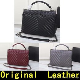 $enCountryForm.capitalKeyWord NZ - Silver Saint Leather Original Chain Silver Pendant Genuine Leather High Quality Luxury Designer Handbags Women Shoulder Bags 1607