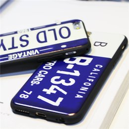 Discount number plate covers - Wholesale License Plate Number Phone Case For iPhone 7 Plus 6 6s TPU Cases Car Number License Plate Capa Funda Coque Cov