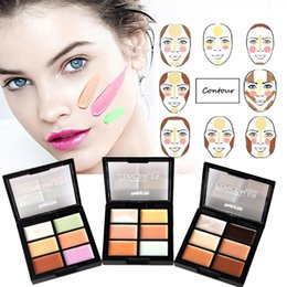 green makeup concealer Australia - Professional 6 Colors 3D Concealer Face Contour Makeup Foundation Cream Makeup Accessories
