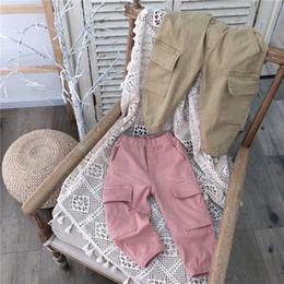 Korea girl legs online shopping - 2019 Korea style girls boys long pants autumn cotton fashion kids pants t