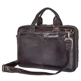 "$enCountryForm.capitalKeyWord Australia - Genuine Cowhide Leather Bags for Men Business Briefcase Portfolio Men Handbags Man Crossbody Bag 14"" Real Leather Laptop Bags Men's Tote Bag"