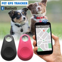 bag mini gps Canada - Pets Bluetooth Smart Tracer Dog Waterproof ABS Mini Anti-Lost Trackers Tracker Cat Wallet Bag Kids Pet GPS Finder Equipment Mnmrc