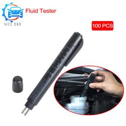 Ingrosso Mini strumento di prova del freno per auto 5 LED Tester penna elettronica per DOT3 / DOT4 5LEDs Indicatore Test veicolo