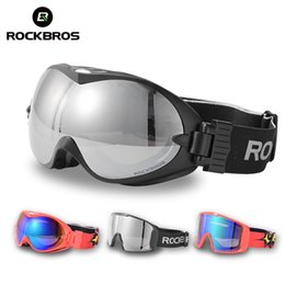 Ski goggleS kidS online shopping - ROCKBROS Anti Fog Ski Goggles Double Layers Skiing Glasses UV400 Snowboard Goggles PC Lens Big Mask Ski Men Women s Glasses Kids