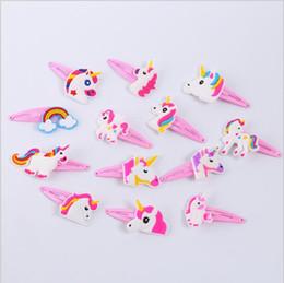 $enCountryForm.capitalKeyWord NZ - Cheap 30 Styles Baby Girls Unicorn Hair Clips Rainbow Horse BB pink PVC hairpin Barrettes Kids Cosplay costumes Hair Accessories