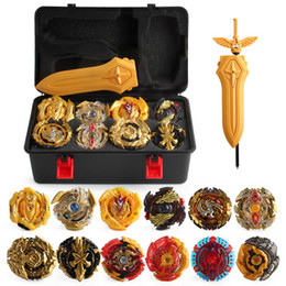 Wholesale Gold Edition 17pieces Beyblade Burst Bey blade Gold Edition Gyro Storage Box 12 Gyro Set Burst Gyro bayblde Foam Pressure For Children Toy