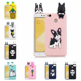 $enCountryForm.capitalKeyWord Australia - Back Case Cover For Xiaomi Redmi 4X Pasted 3D Funny Panda Dog Cat Pineapple Sticking a Little Silicon Doll 61 Models Option