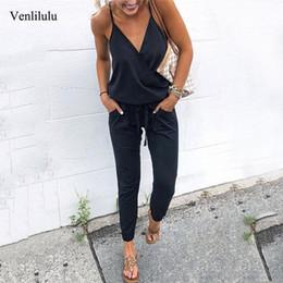 $enCountryForm.capitalKeyWord Australia - 2019 Summer Women Elegant Jumpsuit Romper Sexy Deep V-neck Black Jumpsuit Female Jumpsuit Ladies Party Jumpsuits Women Rompers Y19071701