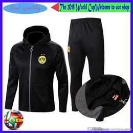 600464e7 18 19 Borussia Dortmund спортивный костюм куртка комплект мужчины комплект  с длинным рукавом тренировочный костюм брюки футбол Borussia Aubameyang  Reus ...