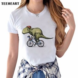 $enCountryForm.capitalKeyWord Australia - Newest Stylish Dinosaurs Rider Design Printed T Shirt Womens Lady Animal Painting Short Sleeve Tee Shirt Tops Clothes