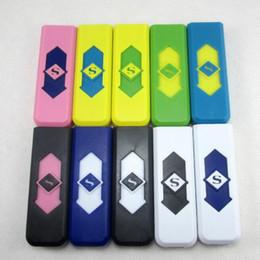 Discount nice bongs - Nice Colorful Plastic Intelligent USB Charging Lighter Innovative design Cyclic 200Mah Charging For Cigarette Bong Smoki