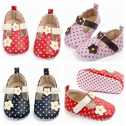 $enCountryForm.capitalKeyWord Australia - 2019 baby moccasins infant baby girl shoes polka dot flowers baby first walker shoes toddler girls soft sole shoes anti slip shoe wholesale