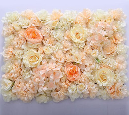 Wholesale flower wall Silk rose tracery wall encryption floral background artificial flowers creative wedding stage WT055