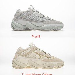 moon buttons Canada - Authentic Originals 500 Salt Ee7287 Super Moon Yellow Db2966 Utility Black F36640 Blush Db2908 Men Casual Shoes Desert Rat Sneakers Sports