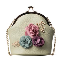 $enCountryForm.capitalKeyWord Australia - Sleeper #4005 Women Fashion Handbag Shoulder Stereo Flowers Bag Small Tote Ladies Purse for women girl bolsa feminina DA