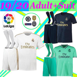 blue real madrid s soccer jersey NZ - adult jerseys Real madrid 19 20 soccer jersey JOVIC HAZARD VINICIUS children football shirt MODRIC Camiseta de futbol 2019 2020 ISCO maillo