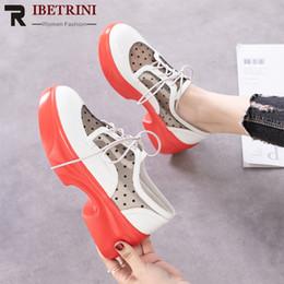 $enCountryForm.capitalKeyWord Australia - RIBETRINI New Arrivals 2019 Patent Leather Lace Up Fashion Sneakers Woman Shoes Women Flat Platform Casual Shoes Woman