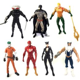 Wholesale 7 Style Aquaman Figure Doll toys New movie kids cm Cartoon Superhero Aquaman Black Manta clown Plastic Toy D0229