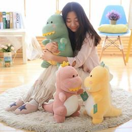 $enCountryForm.capitalKeyWord Australia - Dinosaur Plush Doll Toy Soft Throw Pillow Cushion Birthday Gifts Sofa 50cm 60cm