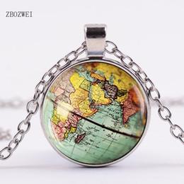 $enCountryForm.capitalKeyWord Canada - Arrived DIY Globe Dome Necklace Earth World Map Pendant Glass Chain Jewelry New York Map Handmade Necklace