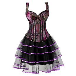 $enCountryForm.capitalKeyWord NZ - steampunk corset plus size gothic jacquard bustier corset dresses for women skirt tutu set burlesque halloween cosplay