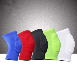 elastic elbow brace Australia - Brand Sports Basketball Knee Protector Brace Support High Elastic Knee Elbow Pads Men Compression Honeycomb Kneecap Support Guard Leg Sleeve
