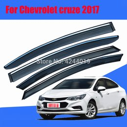 $enCountryForm.capitalKeyWord Australia - Car Awnings Shelters Window Visors Sun Rain Shield Sticker Cover Plating Chrome Trim Auto Accessories For Chevrolet Cruze 2017