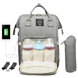 Wholesale Usb Port Maternity Nursing Bag Waterproof Mummy Diaper Bags Large Mother Travel Nappy Backpacks With Hooks Bottle Cover New Y190627