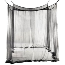 King size bedding for online shopping - New Corner Bed Netting Canopy Mosquito Net for Queen King Sized Bed cm Black