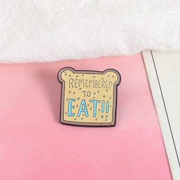 $enCountryForm.capitalKeyWord Australia - Remembered to Eat Bear Bread Toast Brooch Pins Metal Badge Hard Enamel Collection Jewelry Gift Handbag Jacket Denim Summer Hat Accessory
