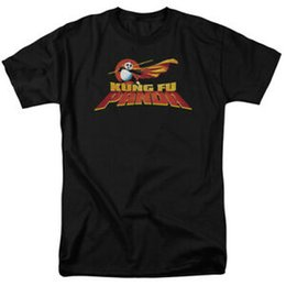 Green White Movie Logo UK - Kung Fu Panda Movie Logo Licensed Adult T ShirtShort-Sleeve