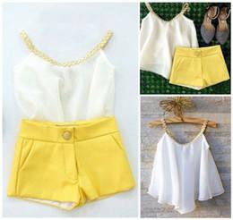 $enCountryForm.capitalKeyWord Australia - Kid Toddler Baby Girl Chiffon Clothes Halter Tops T Shirt +Pants Outfits Summer