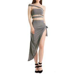 bfbf60fe59 Women Girls Summer Nightclub Sleeveless Backless Braces Bandage Off  Shoulder Boob Tube Top Vest Furcal Bust Skirt Sexy Two-piece