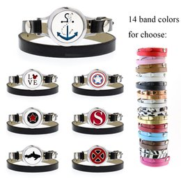 $enCountryForm.capitalKeyWord Australia - bracelet diffuser 25mm twisted screw S Shield Essential Oil Perfume Locket bracelet PU leather band 10pcs free pads